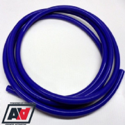 Blue Silicone Vacuum Pipe 10 Metre Length 4mm Bore Thick Wall Construction